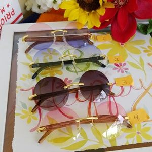 Accessories - Men Women No Frame  Round Sunglasses Shades UV400